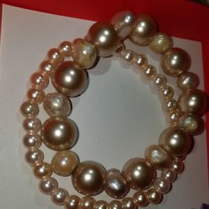 Jewelry - Two Hand-made pearl Bracelets